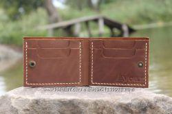 Мужской кожаный бумажник ручной работы VOILE