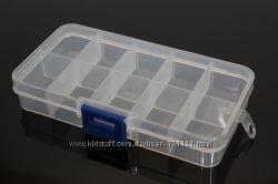 Пластиковые органайзеры для хранения мелочей, ячейки для бисера