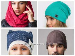 Теплые недорогие шапки всей семье беспроцентное СП Зима-осень Caskona