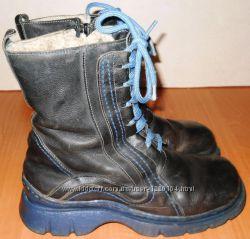 Ботинки кожаные зимние размер 39