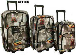 Чемодан сумка дорожный RGL 779 original Poland набор 3в1 от 56 до 78 см