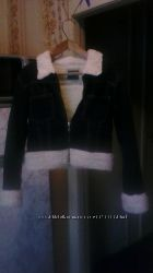 Куртка осенняя джинсовая с мехом