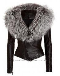 Куртка косуха с мехом чернобурки