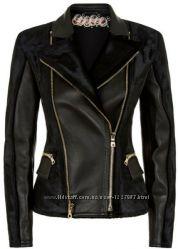 Куртка косуха кожаная комбинированная с замшей
