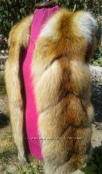 Жилет из меха лисы размер С в наличии