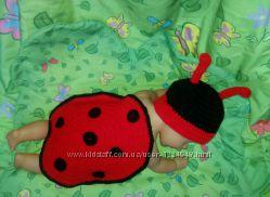 вяжу под заказ костюмчики для фотосессии младенцев