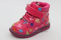 Демисезонные ботиночки для девочек  23, 24, 25, 26, 27