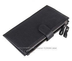Кожаный кошелек на змейке 8057A