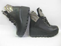 осенние и зимние ботинки из натуральной кожи