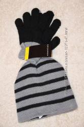 Демисезонная шапка перчатки 3-5 лет