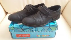 Туфли школьные Subbi Турция р. 30 кожаные с лак вставками