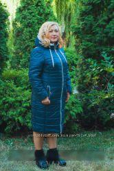 Куртка-пальто  большие размеры  осенее-зимняя