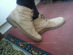 Демисезонные, замшевые полу ботинки 26 - 26, 5см