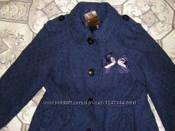 Осень и зима - разные цвета, дизайнерские пальто  р. 134-150