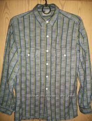 Теплая рубашка для мальчика 10-12лет