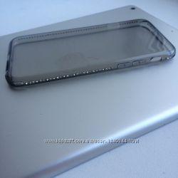 Силиконовый чехол с камнями для Iphone 66S