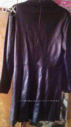 Кожаное пальто женское р. М