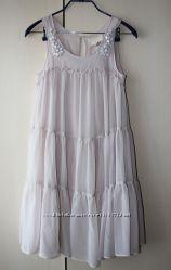 Платье шифоновое многоярусное H&M