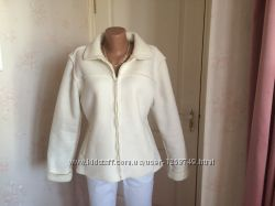 Женская  демисезонная короткая дубленка-куртка, белоснежная, бренд Falmer