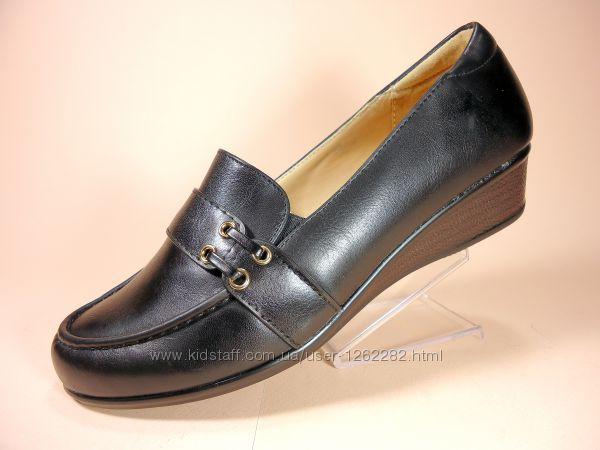 Качественные туфли на танкетке. Размеры 36-41.