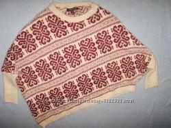 Уютный пушистый свитер травка NUTSHELL  р. M-L в отличном состоянии