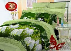 Семейный комплект постельного белья ткань полисатин с 3d эффектом