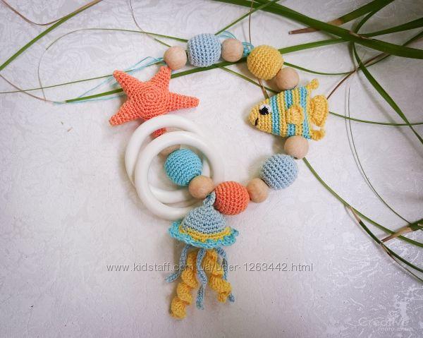 Слингобусы игрушка-погремушка морской тематики