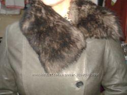 фирменная женская кожаная куртка ML