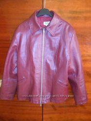 Кожаная куртка вишневого цвета от Dallas Италия