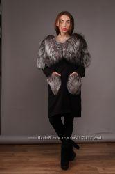 Пальто жилет с Финской чернобуркой 2 в 1 - пальто-жилет Хит