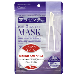 Japan gals японская маска с плацентой pure5 essential 7 шт