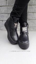 Стильные ботинки кожа, замша