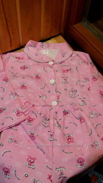 Пижама байка девочкам на 4-7 лет Турция