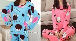 Пижама Milk голубая и розовая. Новая