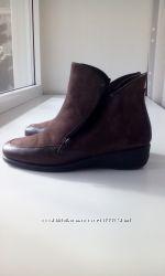 Замшевые натуральные женские ботинки 37 размер, бренда FLEX&GOПортугалия