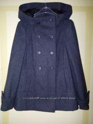 Новая цена. Пальто, полупальто, пиджак Зара, zara , р. 42, шерсть. качество