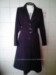 качественное, шерстяное80шерсти, теплое демисезонное пальто ART, под пояс