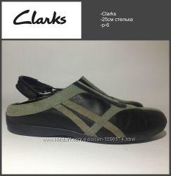 Балетки Clarks р-6 25 см стелька нат. кожа