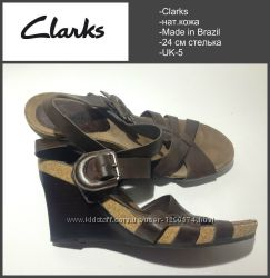 Clarks 24 см стелька UK-5 нат. кожа
