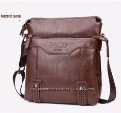 Кожаная мужская сумка-барсетка Polo Vicuna