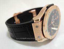 Мужские часы HUBLOT - GENEVE 4 цвета кожаный с каучуком ремешок