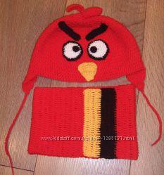 шапка детская Angry Birds енгри бердс красная