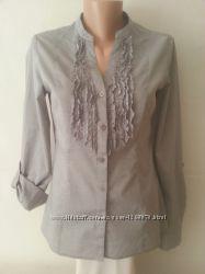 Хлопковая офисная блузочка приталенного силуэта h&m