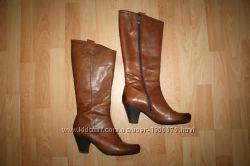 Сапоги кожаные фирменные Marco Tozzi 39 размера, Германия Марко Тоззи