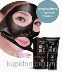 Маска Bioaqua Black Mask от прыщей и черных точек Activated Carbon