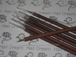 Кисточка для рисования, бамбуковая ручка, ворс ласки.