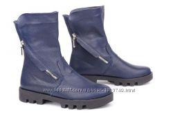 Ботинки женские  кожаные, замшевые  V 1049