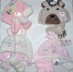 Детские комплекты шапки варежки Disney FOX George Primark 0-12лет