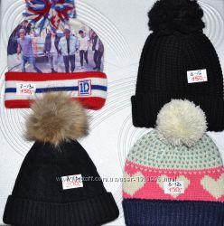 Детские шапки повязки шарфы Disney F&F GAP  George Primark 4-16л