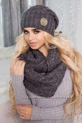 Комплект Лисет шапка и шарф-снуд